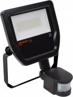 LEDVANCE Floodlight LED 50W/3000K IP65 Black Sensor